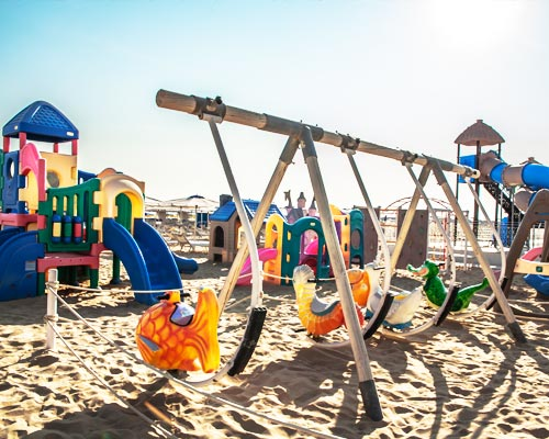 Play area on the beach